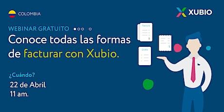 Webinar Colombia: Conoce todas las formas de facturar con Xubio entradas