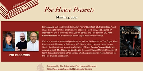 """""""Poe House Presents"""" Author Series (pay-what-you-can) tickets"""