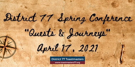 Quests & Journeys - District 77 Annual Conference 2021 tickets