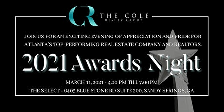 2021 The Cole Realty Group Awards Night tickets