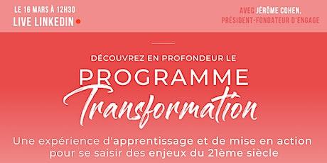 [LIVE] Présentation du Programme Transformation billets
