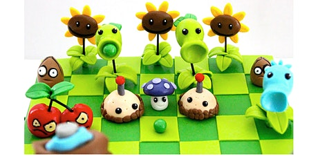 60min Plant VS Zombies Clay Art Lesson @2PM  (Ages 5+) tickets