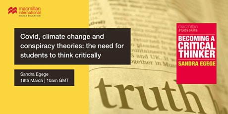 Covid, climate change and conspiracy theories: the need to think critically tickets
