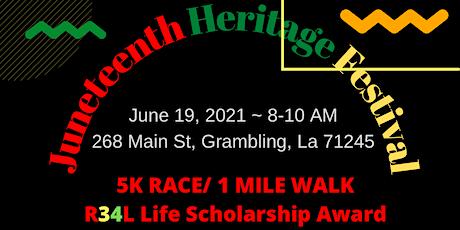R34L LIFE  Juneteenth Scholarship  5K Race/1 mile walk tickets