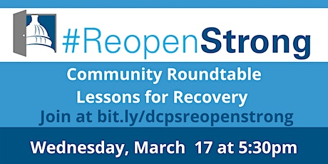 Community Roundtable, Lesson for Recovery tickets
