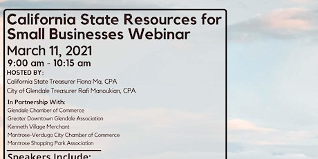 California State Resources for Small Businesses Webinar tickets