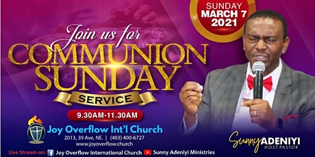 March 2021 Communion Sunday Worship Service tickets