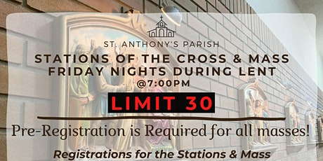 Stations of the Cross & Mass Sign-up Friday March 12 tickets