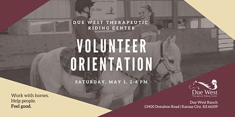 Due West TRC May Volunteer Orientation tickets
