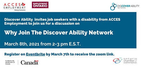 Acces Employment presents Why join the Discover Ability Network? tickets