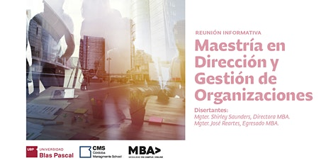 Reunión Informativa> Maestría en Dirección y Gestión de Organizaciones entradas