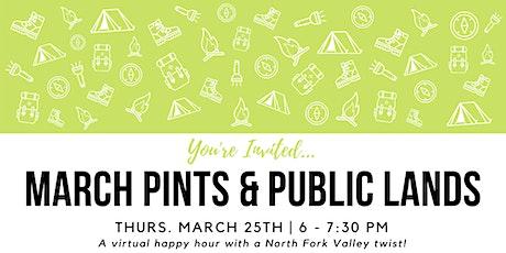 March Pints & Public Lands Virtual Happy Hour tickets