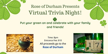 St. Patrick's Day Virtual Trivia Night tickets