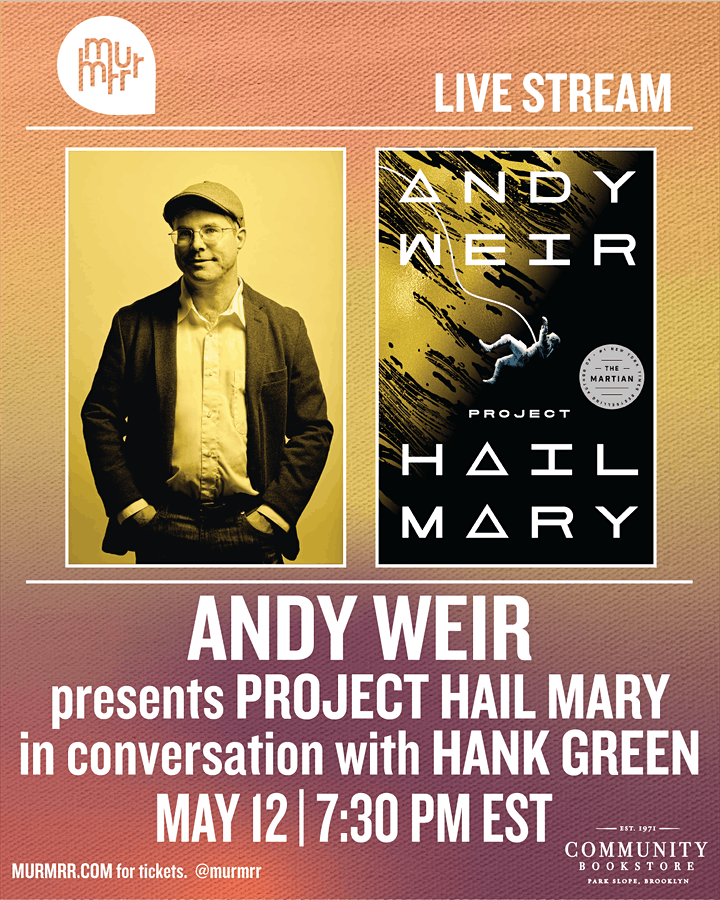 Andy Weir in conversation with Hank Green image