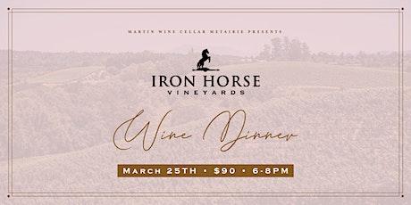 Iron Horse Vineyards Wine Dinner tickets