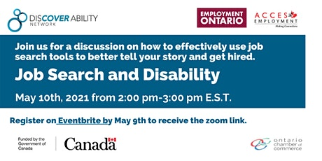 Acces and Discover Ability Network: Job search with a disability tickets