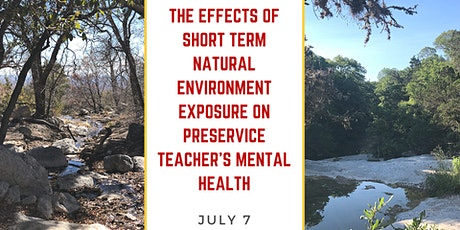 Effects of Nature Exposure on Preservice Teacher's Mental Health tickets