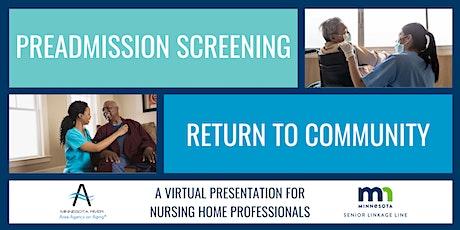 Preadmission Screening & Return to Community: Senior LinkAge Line® tickets