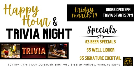Friday Night Out: Happy Hour & Trivia! tickets