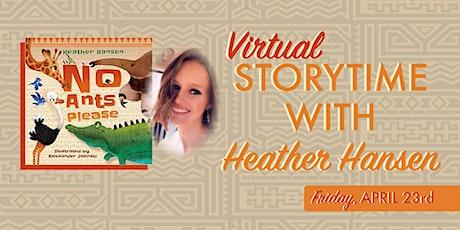 Storytime with Heather Hansen tickets