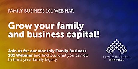 Family Business 101 Webinar tickets