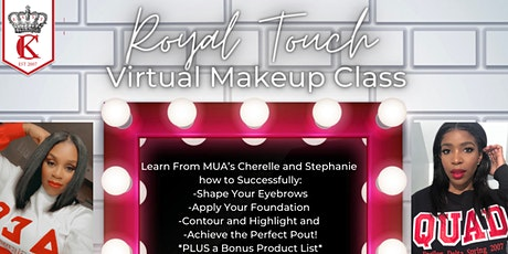Royal Touch - Virtual Makeup Class tickets