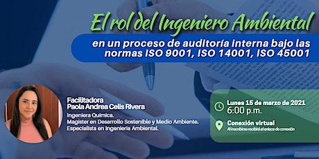 El rol del Ingeniero Ambiental en un proceso de auditoría interna entradas