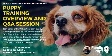 Puppy Training Overview and Q&A Session for Friends of Mamco Rescue tickets