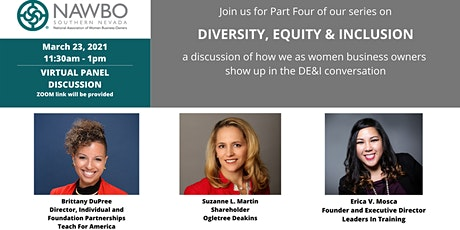 NAWBO Southern Nevada Presents - DIVERSITY, EQUITY & INCLUSION Part Four tickets