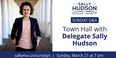 Sunday Q&A Town Hall with Delegate Sally Hudson tickets