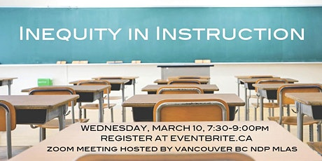 Inequity in Instruction Forum for Vancouver High School Families & Students tickets