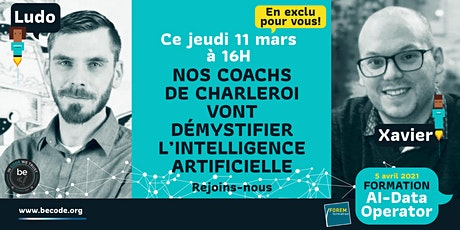 Les coachs de Charleroi vont démystifier l'intelligence artificielle tickets