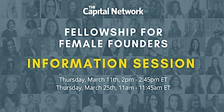 Information Session: TCN Fellowship For Female Founders tickets