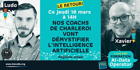 Les coachs de Charleroi vont démystifier l'intelligence artificielle 2 tickets