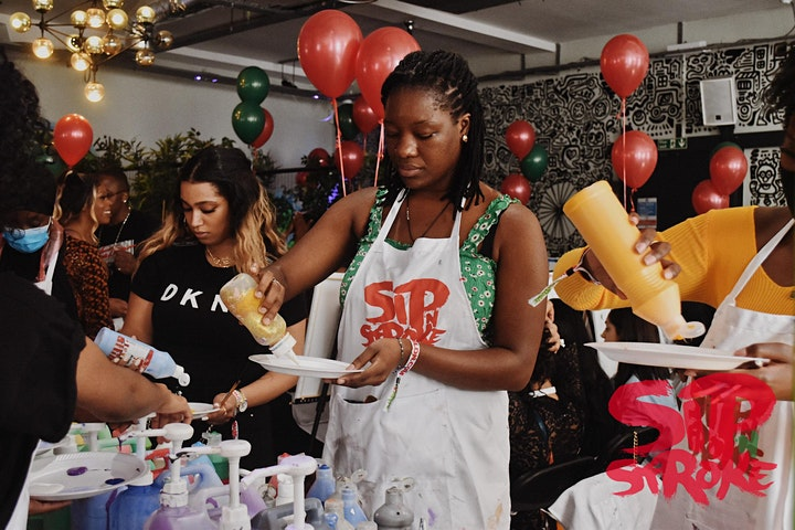 Sip 'N Stroke |1pm - 4pm | 90's Dress Up| Sip and Paint Party image