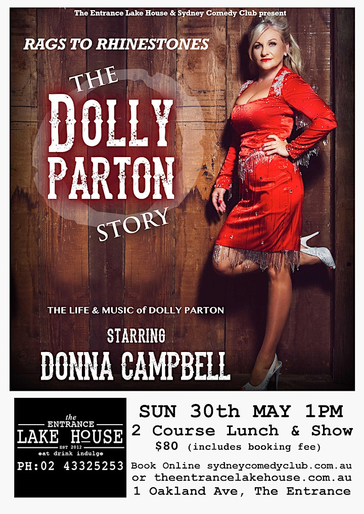 """Dolly Parton Tribute show """"RAGS TO RHINESTONES"""" Starring Donna Campbell image"""