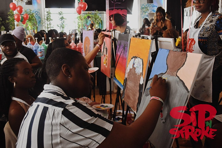 *SOLD OUT* Sip 'N Stroke | 4pm - 7pm| Jean-Michel Basquiat Tribute image