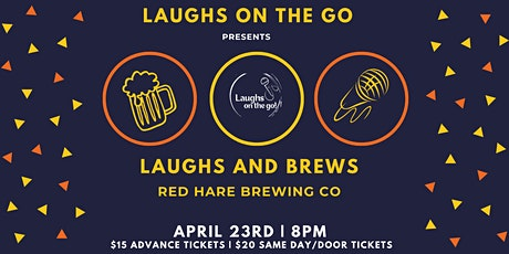 Laughs and Brews at Red Hare Brewing and Distilling tickets