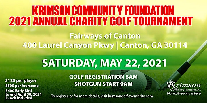 2021 Annual Krimson Community Foundation Charity Golf Tournament image