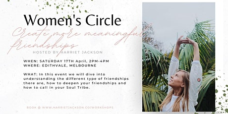 Women's Circle ~ Create meaningful friendships tickets