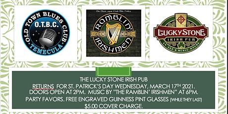ST. PATRICKS DAY at THE LUCKY STONE IRISH PUB (Old Town Blues Club) tickets
