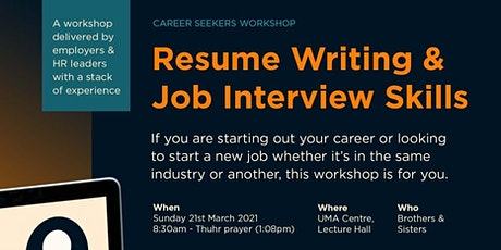 Career Seekers Workshop - Resume Writing * Interview Skills tickets
