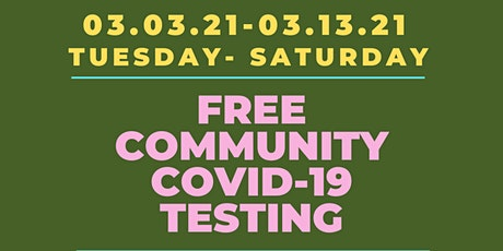 COVID-19 Testing Available  tickets