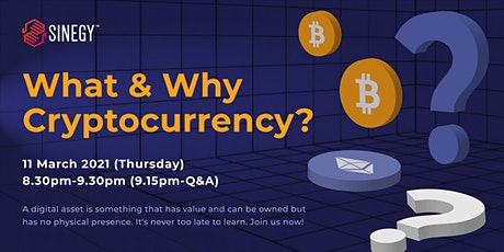 What & Why Cryptocurrency? tickets