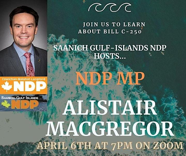 NDP MP Alistair MacGregor on Bill C250 image