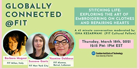 Stitching Life: Exploring the Art of Embroidering Clothes, Repairing Hearts tickets