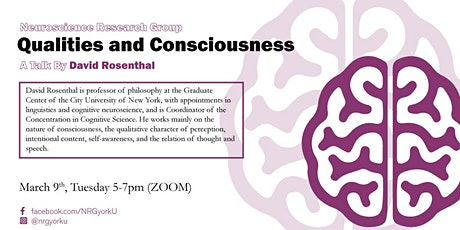 Qualities and Consciousness tickets