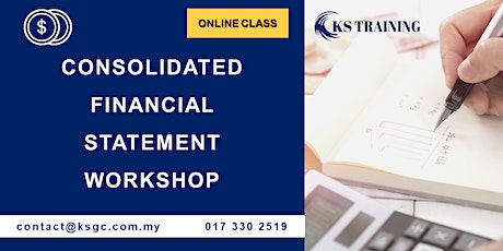 Consolidated Financial Statement Workshop - Online Class - HRDF Claimable tickets