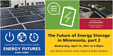 The Future of Energy Storage in Minnesota (Part 2) tickets