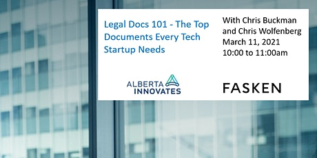 Legal Docs 101 - The Top Documents Every Tech Startup Needs Tickets